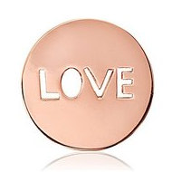 Nikki Lissoni Gold tone 1 Inch Love It Is Coin