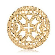 Nikki Lissoni Gold tone 1 1 4 Inch Ancient Cross Coin