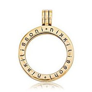 Nikki Lissoni Gold Tone 1 Inch Coin Holder Pendant
