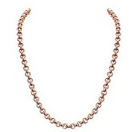 Nikki Lissoni Rose tone 4mm Rolo Chain Necklace