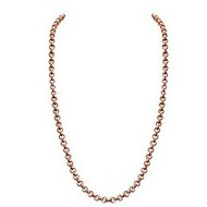 Nikki Lissoni Rose tone 3mm Rolo Chain Necklace