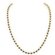 Nikki Lissoni Gold tone 4mm Bead Chain Necklace