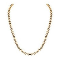 Nikki Lissoni Gold tone 4mm Rolo Chain Necklace