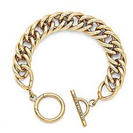 Nikki Lissoni Gold Tone Toggle Bracelet