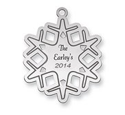 Sterling Silver Christmas Snowflake Ornament