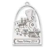 Sterling Silver Christmas Train Ornament