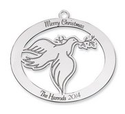 Sterling Silver  Christmas Dove Ornament
