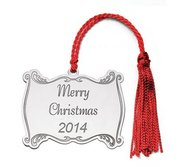 Sterling Silver Christmas Plaque Ornament