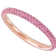 14k Rose Gold Sapphire Eternity Band
