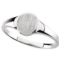 Sterling Silver Boy s Round Engravable Signet Ring