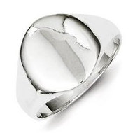 Sterling Silver Boy's Oval Engravable Signet Ring