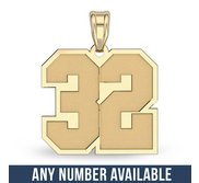 New  Jersey Number Charm or Pendant with 2 Digits