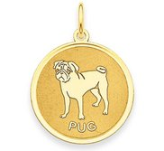 Pug Disc Charm or Pendant