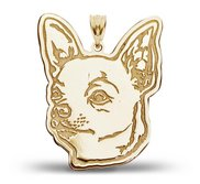 Chiuahua Dog Portrait Charm or Pendant