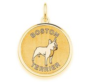 Boston Terrier Disc Charm or Pendant