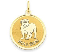 Bulldog Disc Charm or Pendant