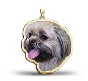 Shih Tzu Dog Portrait Charm or Pendant