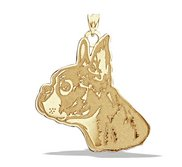 Boston Terrier Dog Portrait Charm or Pendant