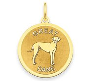 Great Dane Disc Charm or Pendant
