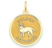 Golden Retriever Disc Charm or Pendant