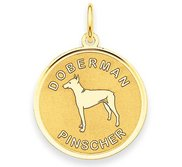 Doberman Pinscher Disc Charm or Pendant