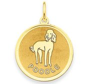Poodle Disc Charm or Pendant