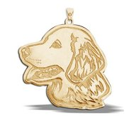 Golden Retriever Dog Portrait Charm or Pendant