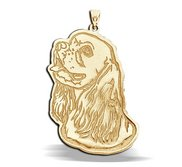 Cocker Spaniel Dog Portrait Charm or Pendant