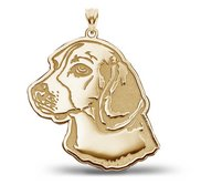 Beagle Dog Portrait Charm or Pendant