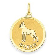 Boxer Disc Charm or Pendant