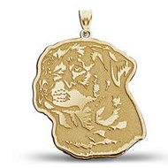 Rottweiler Dog Portrait Charm or Pendant