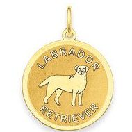 Labrador Retriever Disc Charm or Pendant