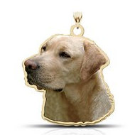 Yellow Labrador Retriever Dog Color Portrait Charm or Pendant