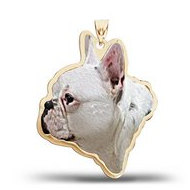 French Bulldog Dog Color Portrait Charm or Pendant
