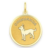 Chihuahua Disc Charm or Pendant