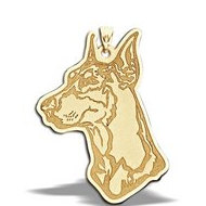 Doberman Pinscher Portrait Dog Charm or Pendant