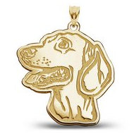 Dachshund Dog Portrait Charm or Pendant
