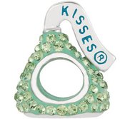 Sterling Silver HERSHEY S KISSES 3D Light Green Swarovski Crystal Bead Charm