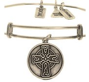 Wind   Fire  Celtic Cross  Expandable Bracelet