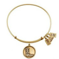 Wind   Fire  Cowboy Boot Charm  Expandable Bracelet