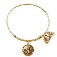 Wind   Fire  Love Letter  M  Charm  Expandable Bracelet