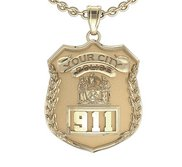 Personalized New York Police Badge w  Your Number   Department