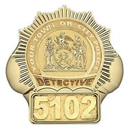 New York Personalized Detective Badge Ring w/ Number & Department