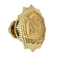Personalized New York Lieutenant Badge Tie Tac w/ Your Number & Department