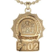 Personalized New York Detective Badge w/ Your Number & Department