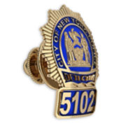 Personalized New York Detective Enamel Badge Tie Tac w/ Your Number & Department
