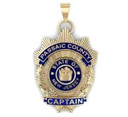 Personalized New Jersey Police Captain Enamel Badge w  Your Department