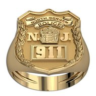 New Jersey Personalized NJ Police Ring w/ Badge Number & Department
