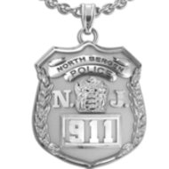 Personalized New Jersey Police Badge w/ Your Number & Department