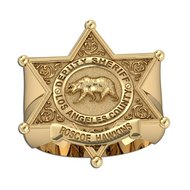 Personalized Los Angeles County Sheriff Ring w/ Rank & Name